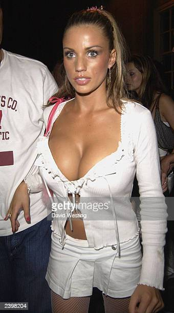 Page 3 Model Jordan is seen leaving nightclub 'China White' on August 13 2003 in London England