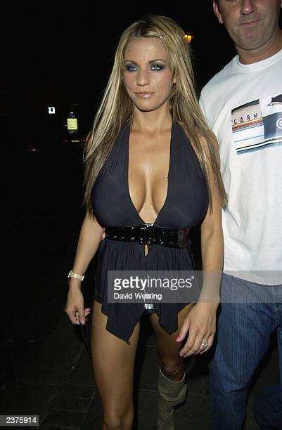 Page 3 Model Jordan leaves China White Nightclub August 6 2003 in London England