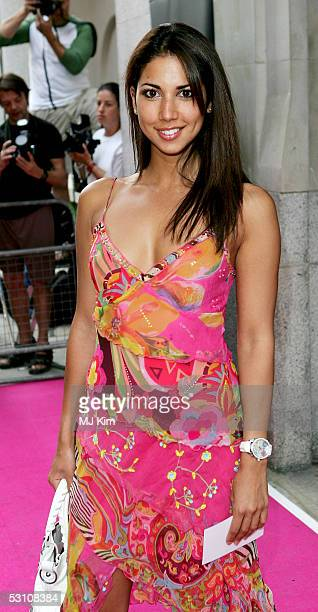 Page 3 model leilani Dowding arrives at the In The Pink charity party in aid of Breast Cancer Haven at Cadogan Hall on June 20 2005 in London England