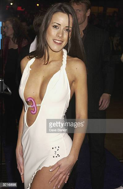 Page 3 model Nicole arrives at the UK Premiere of The Lord Of The Rings The Two Towers held on December 11 2002 at the Odeon Leicester Square in...