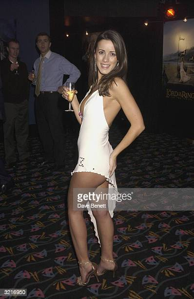 Page 3 model Nicole at the UK Premiere of The Lord Of The Rings The Two Towers held on December 11 2002 at the Odeon Leicester Square in London
