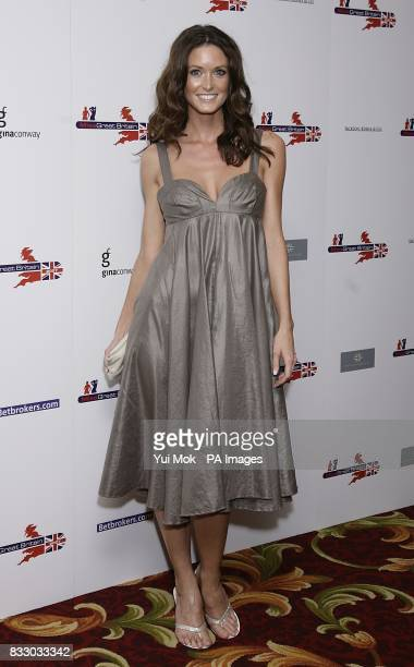 Page 3 model Nikkala Stott arrives for the Miss Great Britain 2007 ceremony at the Grosvenor House Hotel in cental London Picture date Monday 21 May...