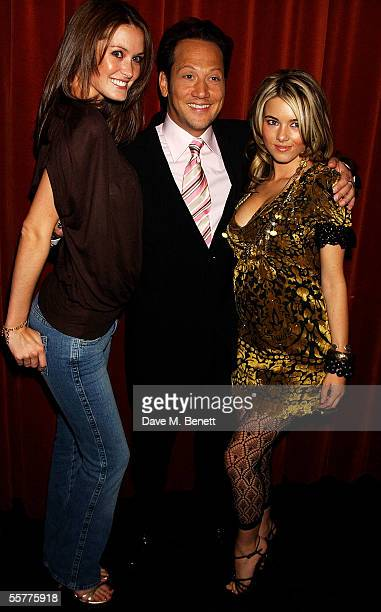 Page 3 model Nikkala Stott Rob Schneider and guest arrive at the UK Premiere of Deuce Bigalow European Gigolo at the Rex Cinema Bar on September 26...