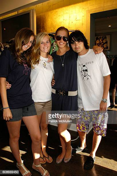 Page Allardice Kathy Kim Cassidy Hagerman and Alec Andon attend Izzy Gold Trunk Show at Blue Cream at Easthampton on June 23 2007 in East Hampton New...