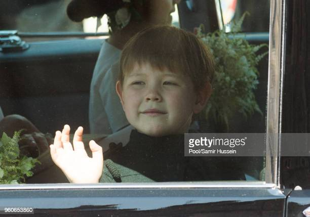 Page Boy Jasper Dyer attends the wedding of Prince Harry to Ms Meghan Markle at St George's Chapel Windsor Castle on May 19 2018 in Windsor England...