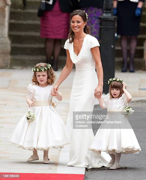 Page Boys And Bridesmaids Arrive At Westminster Abbey London Escorted By Pippa Middleton Before Her Sister Kate'S Marriage To Prince William