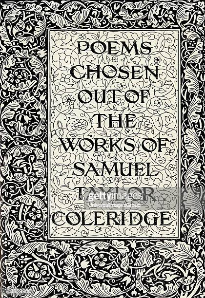 Page decoration from the Kelmscott Press Coleridge designed by William Morris 1834 to 1896 English artist and writer