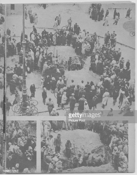 A page from a feature in Picture Post magazine on the Hungarian Uprising Budapest November 1956 Original Publication Picture Post 8730 Hungary's Last...