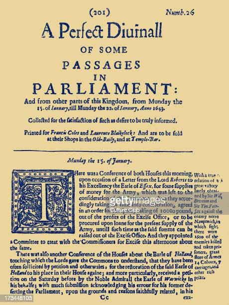 A page from A Perfect Diurnall of Some Passages in Parliament