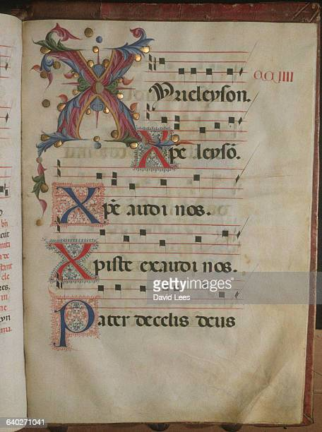 A page from Pius II Book of Psalms annotated in Gregorian chant It comes from the Orvieto cathedral and several painters were commissioned to...