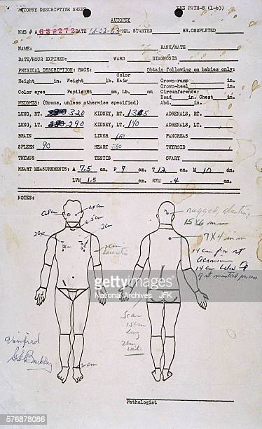 Page from President Kennedy's Autopsy Report