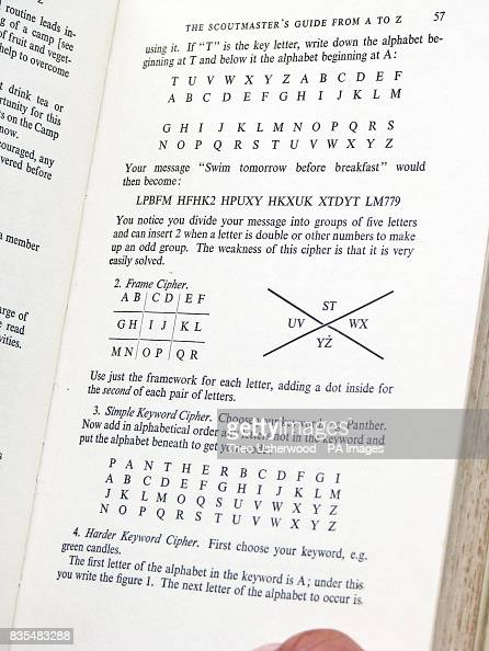 A page from the Scoutmaster's A to Z which helped Detective