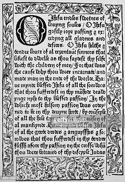 Page from 'XV O'es' by William Caxton n English merchant diplomat writer and printer Dated 15th Century
