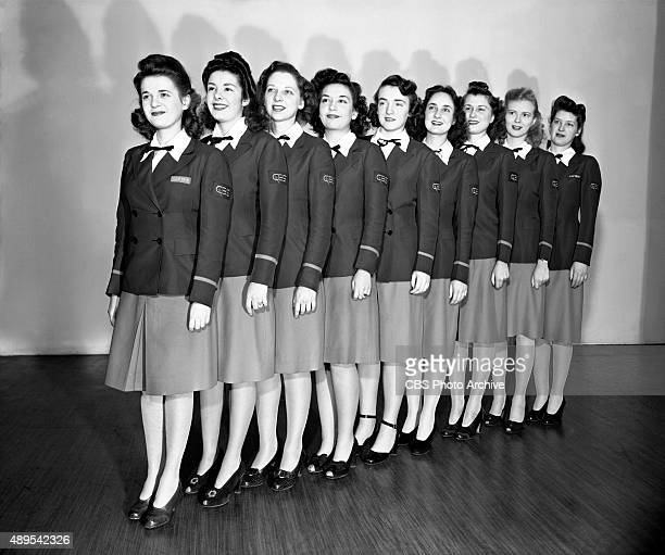 RADIO CBS page girls pose in February 1944 Broadcast networks hire pages to act as tour guides and studio audience ushers The coveted job is seen as...