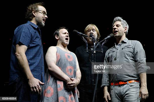 Page McConnell Jonathan Fishman Trey Anastasio and Mike Gordon of Phish perform at Madison Square Garden on December 28 2016 in New York City