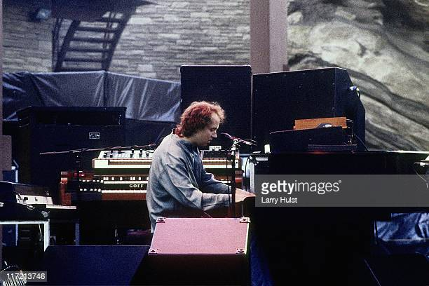 Page McConnell playing in 'Phish' performing at Red Rocks Amphiatheater in Morrison Colorado on June 10 1995