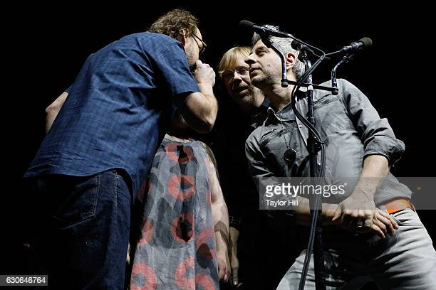 Page McConnell Trey Anastasio and Mike Gordon of Phish performs at Madison Square Garden on December 28 2016 in New York City