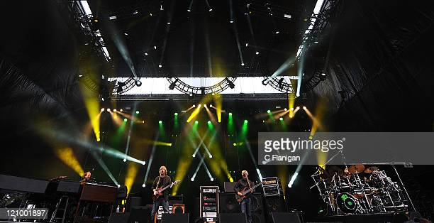 Page McConnell, Trey Anastasio, Mike Gordon and John Fishman of Phish perform during the 2011 Outside Lands Music and Arts Festival at Golden Gate...