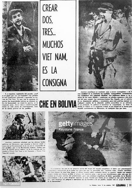 Page Of La Habana Neswpaper Of October 16 A Week After Fidel Castro'S Former ComradeInArms Pictures And Quotes Of Che'S Written Work On October 16Th...