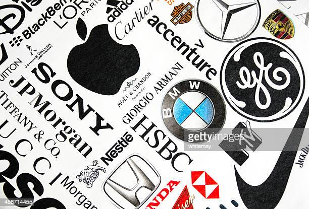 Page of printed brand names