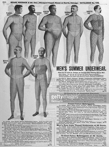 Page of Sear's catalogue advertising men's summer underwear Undated BPA