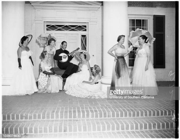 Page One Society, 7 August 1951. Mrs Edward Hinde Farmer;Mrs John Osborne;Mrs George Langley;Mr Joe Moshay;Mrs Prentiss Moore;Mrs Henry Cole;Mrs...