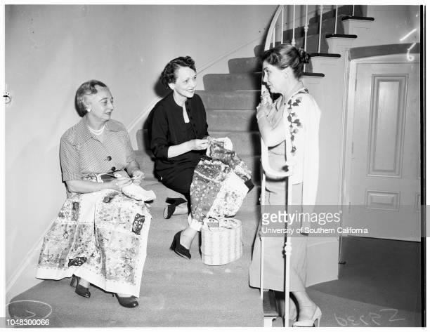 Pasadena Needlework Guild 4 June 1953 Mrs Carlos JohnsonMrs William PfauMrs BK StephensonMrs Evans WheelerMrs Nat PaschallMrs James HowardChristine...