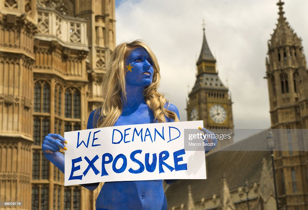 Page 3 Girl Urges MP's To Come Clean On Expenses : News Photo