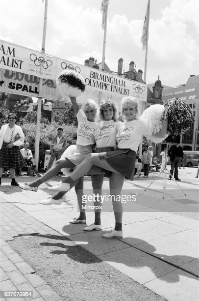 Page Three girls back the Birmingham City Olympic bid 8th July 1986