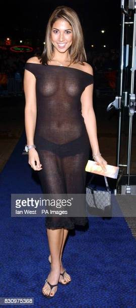 Page three model Leilani arriving for the gala premiere of the film xXx at the Odeon Leicester Square cinema London