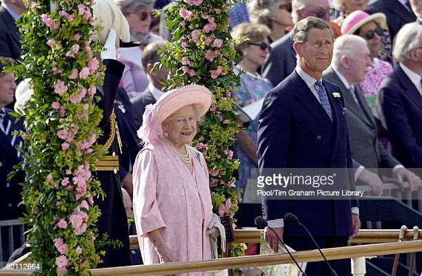 Pageant To Celebrate The 100th Birthday Of The Queen Mother Horseguards London The Queen Mother Escorted By Her Eldest Grandchild Prince Charles