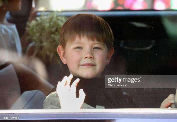 Pageboy Jasper Dyer arrives at the wedding of Prince Harry to Ms Meghan Markle at St George's Chapel Windsor Castle on May 19 2018 in Windsor England...