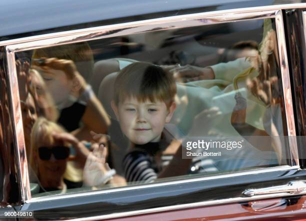 Pageboy Jasper Dyer arrives for the wedding of Prince Harry to Ms Meghan Markle at St George's Chapel Windsor Castle on May 19 2018 in Windsor...