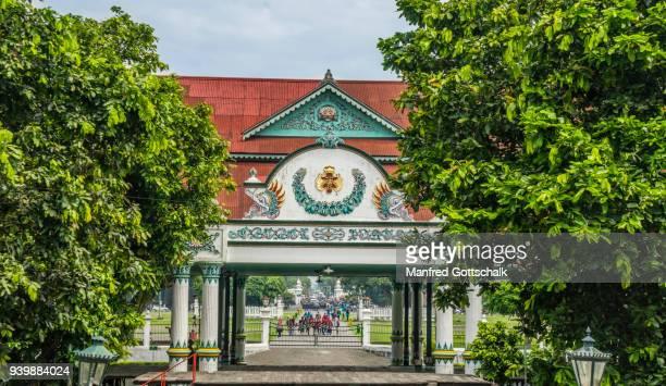 pagelaran hall of the kraton yogyakarta - kraton stock pictures, royalty-free photos & images