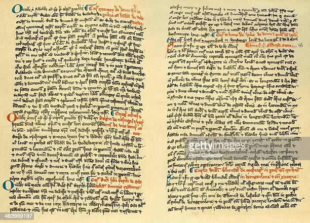 Pages from the cartulary of Osney Abbey c1275 Osney Abbey was an Augustinian monastery founded Osney Oxfordshire in 1129 It briefly served as the...