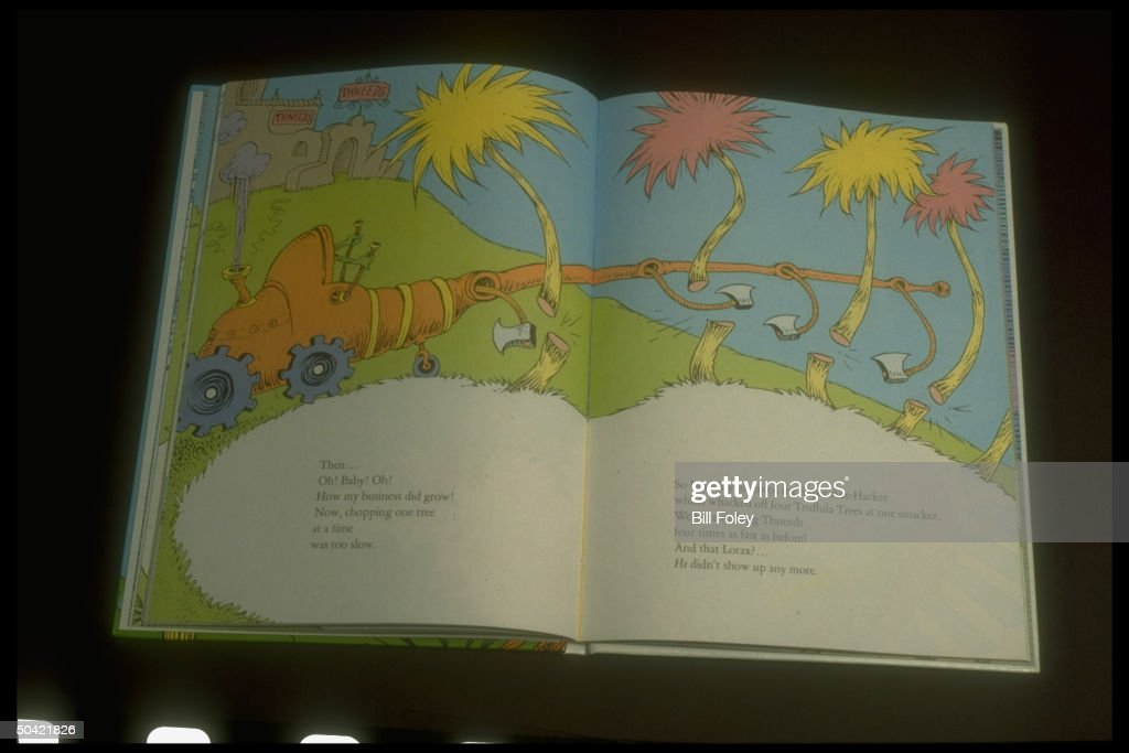 An Open Copy of 'The Lorax' : News Photo