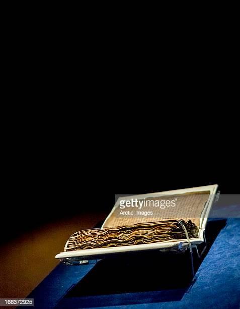 Pages of old manuscripts. Reykjavik, Iceland