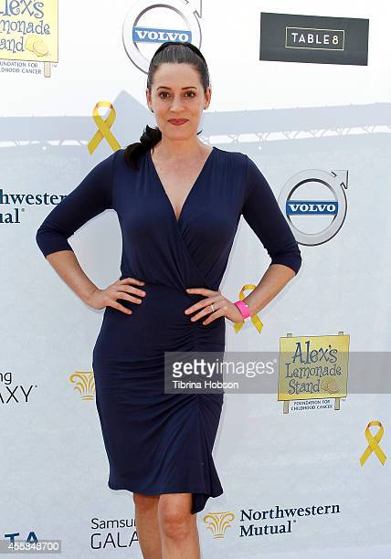 Paget Brewster attends the 5th annual 'LA Loves Alex's Lemonade' annual fundraiser at Wilson Plaza UCLA on September 20 2014 in Westwood California