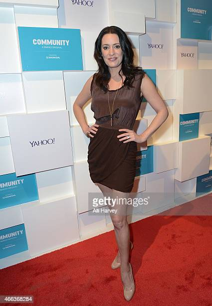 Paget Brewster attends Yahoo's Community Greendale School Dance at SXSW 2015 on March 14 2015 in Austin Texas