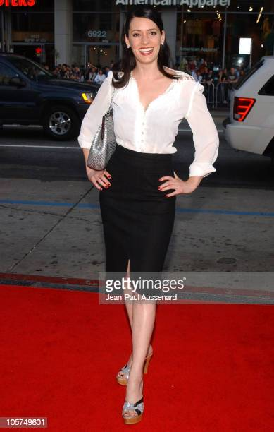 Paget Brewster during HBO's Six Feet Under Season 5 Premiere at Chinese Theater in Hollywood California United States