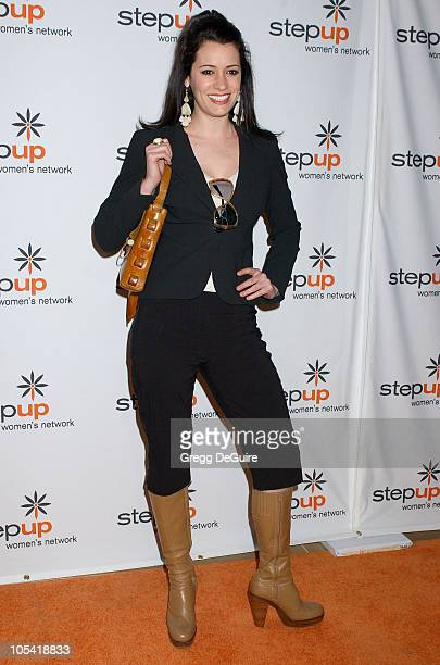 Paget Brewster during Step Up Women's Network Inspiration Awards Luncheon Arrivals Awards at Beverly Hilton Hotel in Beverly Hills California United...