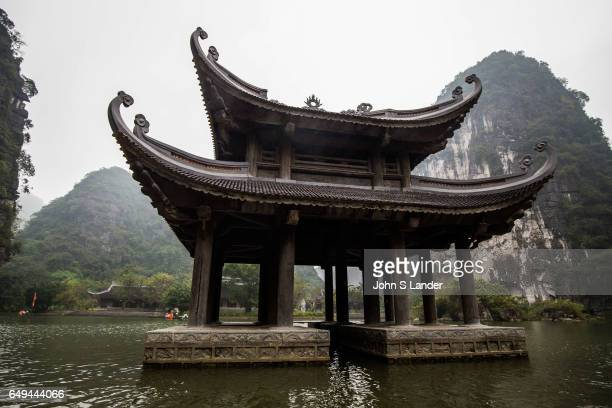 Pagoda at Trang An Landscape Complex made up of three distinct areas Hoa Lu Ancient Citadel Trang An and Tam Coc Bich Dong collectively called the...