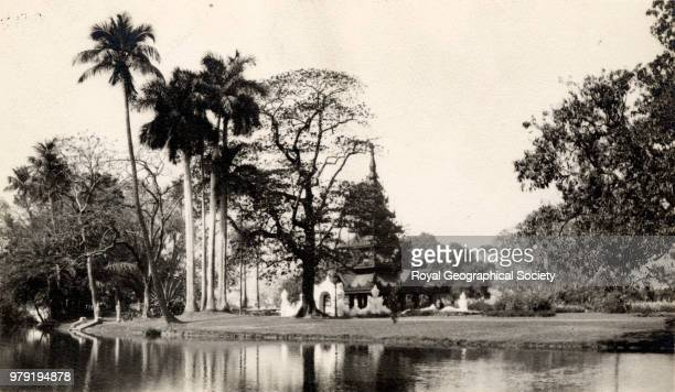 Pagoda in Eden Gardens at Calcutta *Identified in December 2013 as the Botanical Gardens India 1925