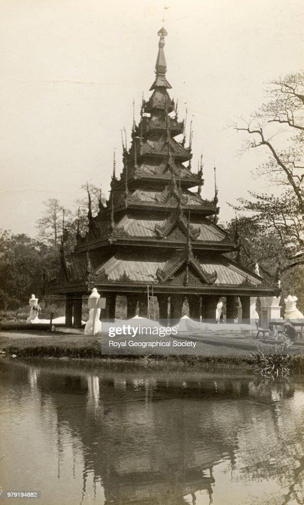Pagoda in Eden Gardens at Calcutta, West Bengal : News Photo