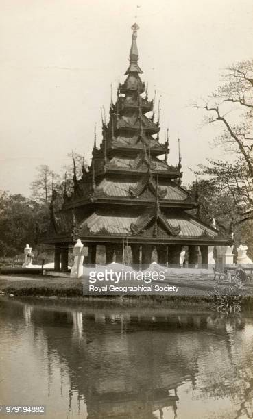 Pagoda in Eden Gardens at Calcutta West Bengal India 1925