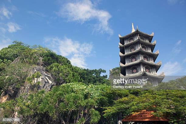 Pagoda in Marble Mountain, Vietnam