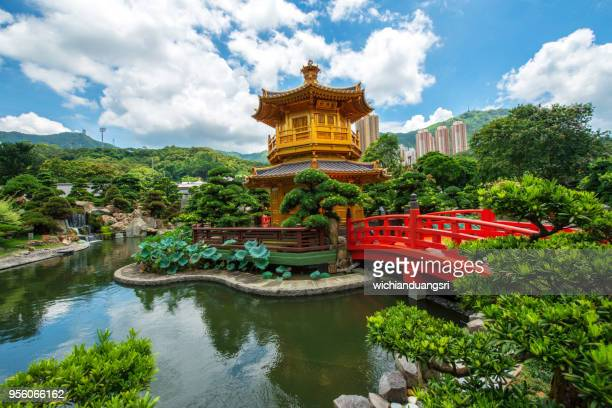 pagoda nan lian garden,diamond hill,hong kong,china - kowloon peninsula stock pictures, royalty-free photos & images