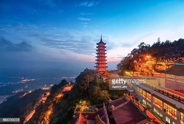 pagoda of the chin swee caves temple, malaysia - kuala lumpur stock-fotos und bilder