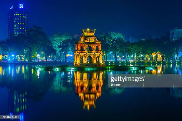 Pagoda on Hoan Kiem lake
