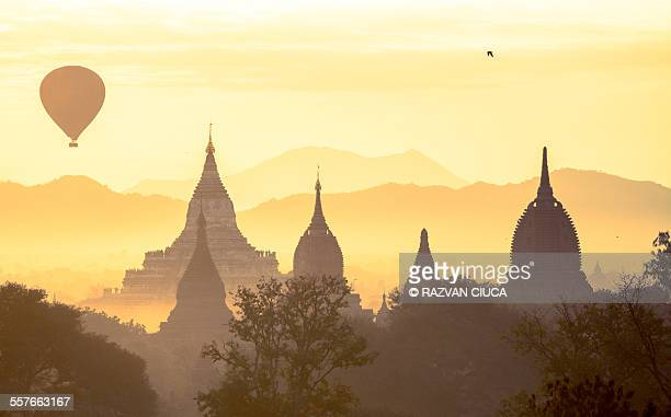 Pagoda Silhouettes, Myanmar, Travel destination